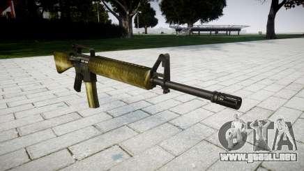 El rifle M16A2 de oliva para GTA 4