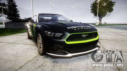 Ford Mustang GT 2015 Custom Kit monster energy para GTA 4