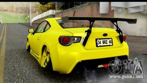 Subaru BRZ 2013 para GTA San Andreas left
