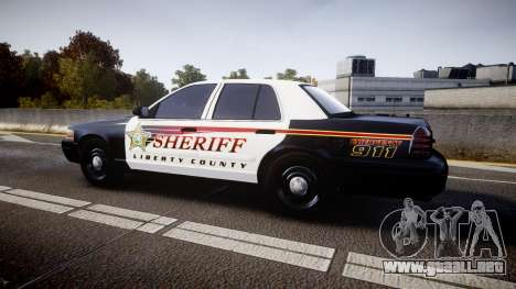 Ford Crown Victoria Sheriff [ELS] rims1 para GTA 4 left