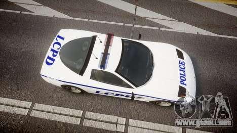 Invetero Coquette Police Interceptor [ELS] para GTA 4 visión correcta