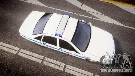 Chevrolet Caprice Liberty Police [ELS] para GTA 4 visión correcta