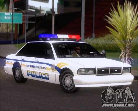 Police LS Metropolitan Police para GTA San Andreas left