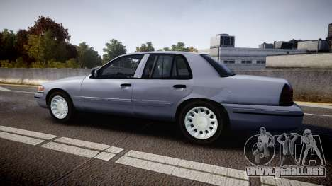 Ford Crown Victoria Unmarked Police [ELS] para GTA 4 left