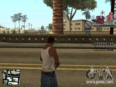 C-HUD Universal v2 para GTA San Andreas quinta pantalla