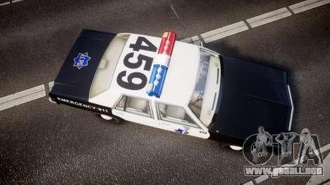 Ford LTD Crown Victoria 1987 LCPD [ELS] para GTA 4 visión correcta