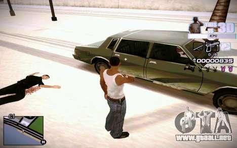 HUD 3D para GTA San Andreas sucesivamente de pantalla