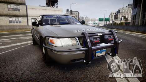 Ford Crown Victoria Sheriff K-9 Unit [ELS] pushe para GTA 4