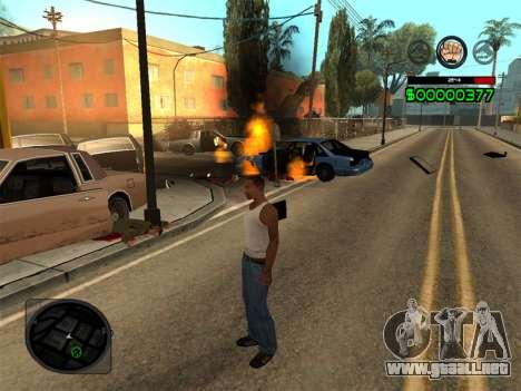 C-HUD by Radion para GTA San Andreas quinta pantalla