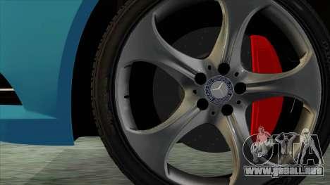 Mercedes-Benz S350 2015 Bluetec para GTA San Andreas vista posterior izquierda