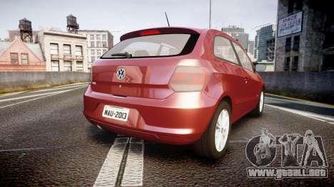 Volkswagen Gol G6 iTrend 2014 rims1 para GTA 4 Vista posterior izquierda