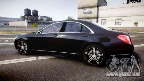 Mercedes-Benz S500 W222 para GTA 4 left