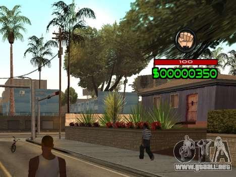 C-HUD by Radion para GTA San Andreas segunda pantalla