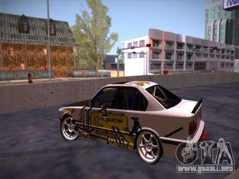BMW M5 E34 Grip Runners Team para visión interna GTA San Andreas