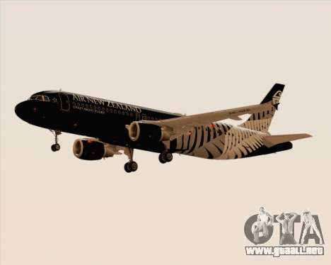Airbus A320-200 Air New Zealand para GTA San Andreas vista posterior izquierda