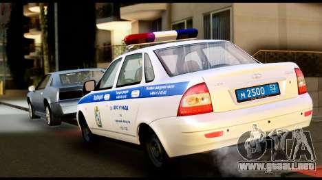 VAZ 2170 DE LA POLICÍA DE TRÁFICO para GTA San Andreas