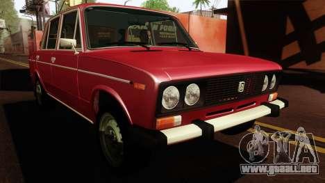 VAZ Lada 2106 v2 para la visión correcta GTA San Andreas