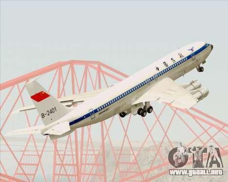 Boeing 707-300 CAAC para la vista superior GTA San Andreas