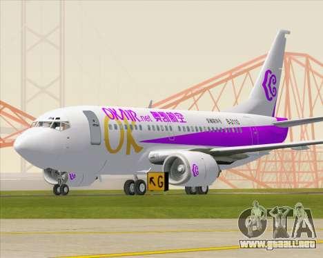 Boeing 737-500 Okay Airways para GTA San Andreas left