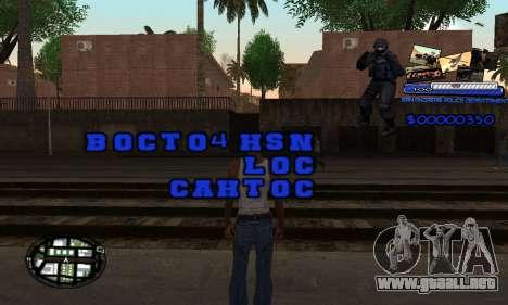 C-HUD SAPD para GTA San Andreas segunda pantalla