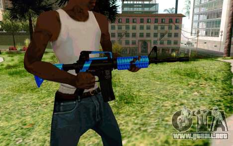 M4 Blue para GTA San Andreas tercera pantalla