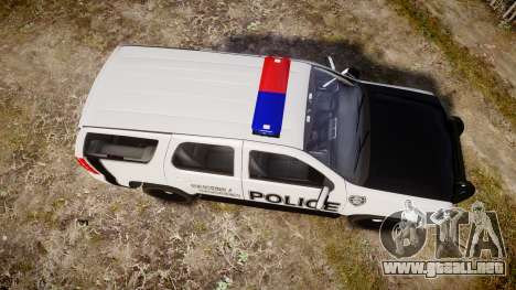 Chevrolet Tahoe 2010 Sheriff Dukes [ELS] para GTA 4 visión correcta