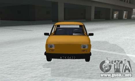 Fiat 126p FL para la visión correcta GTA San Andreas