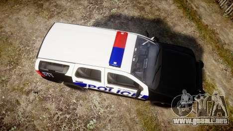 Chevrolet Tahoe 2010 Police Algonquin [ELS] para GTA 4 visión correcta
