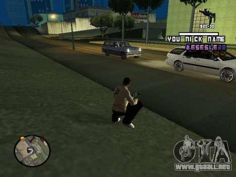 C-HUD by SantiManti para GTA San Andreas segunda pantalla