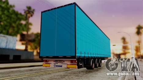Volvo FH12 Low Deck Trailer para GTA San Andreas left