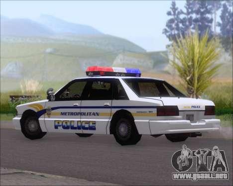 Police LS Metropolitan Police para GTA San Andreas vista posterior izquierda