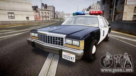 Ford LTD Crown Victoria 1987 LCPD [ELS] para GTA 4