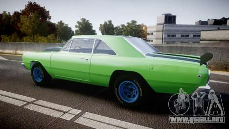 Dodge Dart HEMI Super Stock 1968 rims3 para GTA 4 left