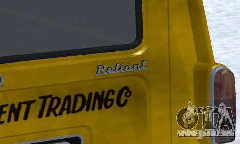 Reliant Supervan Only Fools and Horses para vista inferior GTA San Andreas