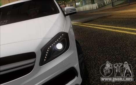 Mercedes-Benz A45 AMG para vista inferior GTA San Andreas
