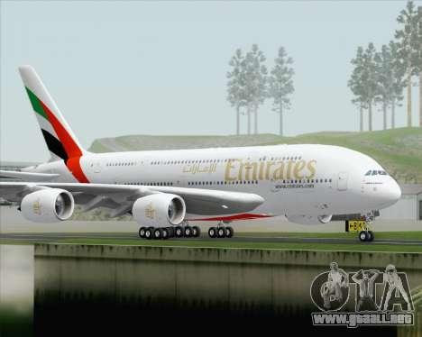 Airbus A380-800 Emirates (A6-EDH) para la visión correcta GTA San Andreas