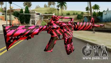 Red Tiger M4 para GTA San Andreas segunda pantalla