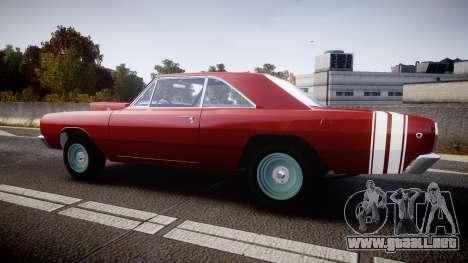 Dodge Dart HEMI Super Stock 1968 rims2 para GTA 4 left