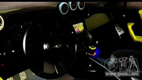 Subaru BRZ 2013 para GTA San Andreas vista hacia atrás