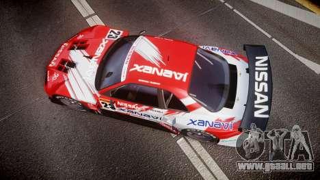 Nissan Skyline R34 2003 JGTC Xanavi para GTA 4 visión correcta