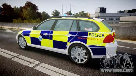 BMW 325d E91 2009 Sussex Police [ELS] para GTA 4 left