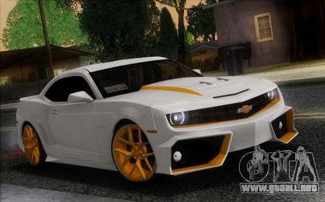Chevrolet Camaro VR (IVF) para la visión correcta GTA San Andreas
