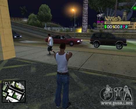C-HUD Vagos para GTA San Andreas quinta pantalla