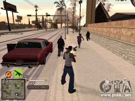 Un simple C-HUD para GTA San Andreas sucesivamente de pantalla