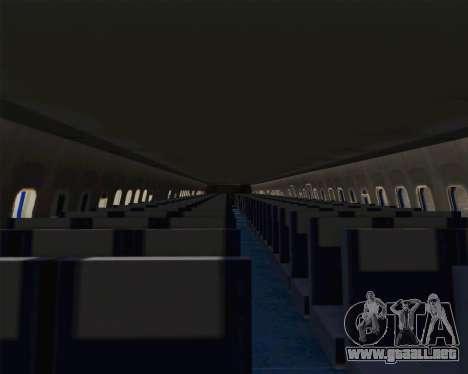 Boeing 707-300 CAAC para visión interna GTA San Andreas