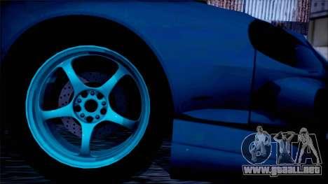 Toyota Сelica para GTA San Andreas vista posterior izquierda