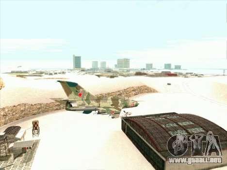 MiG 21 de la fuerza aérea Soviética para la visión correcta GTA San Andreas