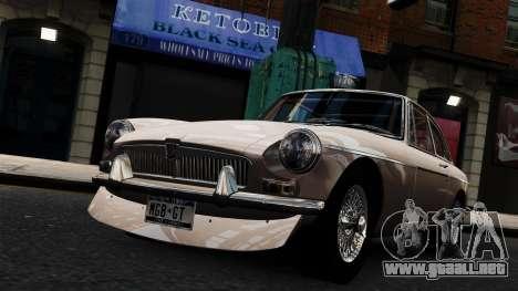 MGB GT 1965 para GTA 4 visión correcta