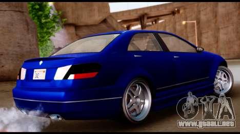 GTA 5 Schafter Bumper para GTA San Andreas left