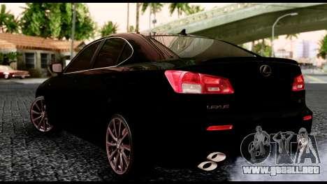 Lexus IS-F para la visión correcta GTA San Andreas